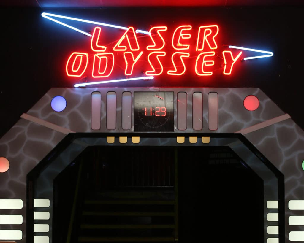 the laser tag sign